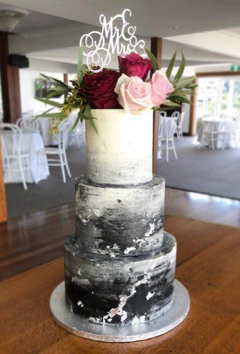 black wedding cake ombre cake coastweddingcreations