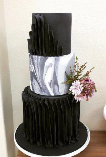 black wedding cake rufler cake cakesatnumber5