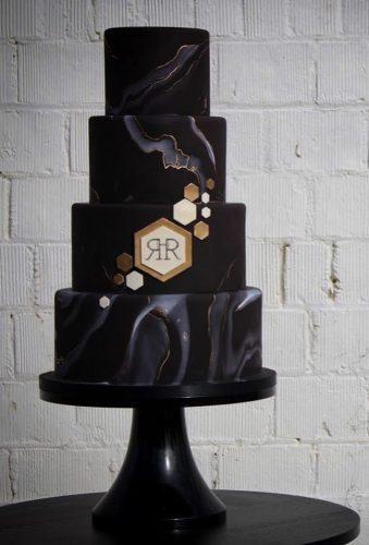black wedding cake modern black cake intricateicings