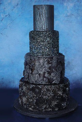 black wedding cake total black cake sugargeekshow