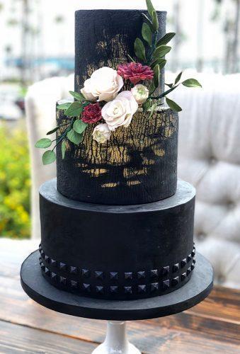 black wedding cake elegant balc cake samluvscakes