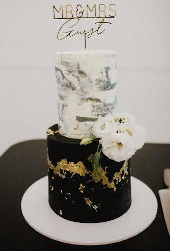 black wedding cake black white cake graciecakes