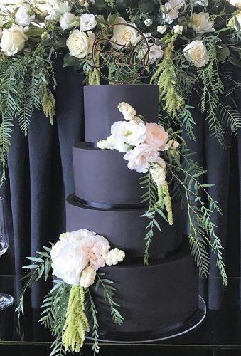 black wedding cake rustic black cake bliciouscakes