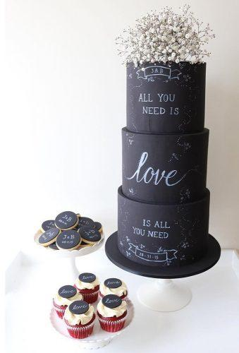 black wedding cake cake with flower cake topper felicitycook.co