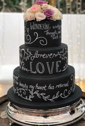 black wedding cake cake with letters wadescakes