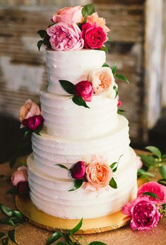 vintage wedding cake toppers white cake pink flower Jeff Loves Jessica Photography