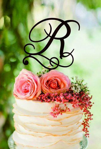 vintage wedding cake toppers vintage momogram HomeWoodDeco