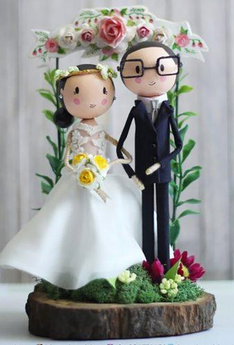 vintage wedding cake toppers vintage couple VeeneStudio