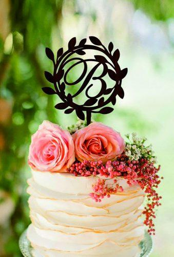vintage wedding cake toppers family monogram HomeWoodDeco
