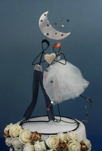 vintage wedding cake toppers diy dolls KAMDESIGNArt