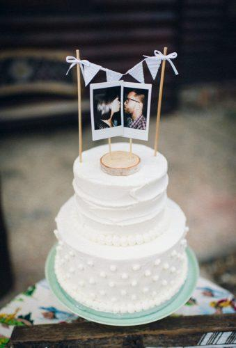 vintage wedding cake toppers topper withphoto Hibben Photography