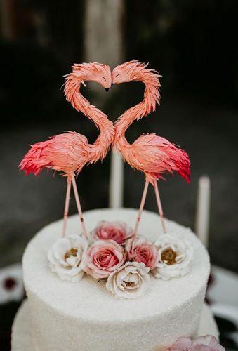 vintage wedding cake toppers flamingo cake topper Ashtyn Brooke Photo