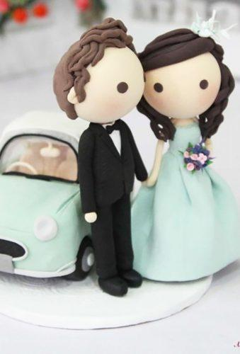 vintage wedding cake toppers dolls with car AsiaWorld