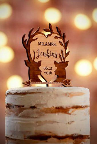 vintage wedding cake toppers wood heart WeddingTreeGuestbook