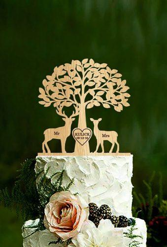 vintage wedding cake toppers beautiful tree HolidayCakeTopper