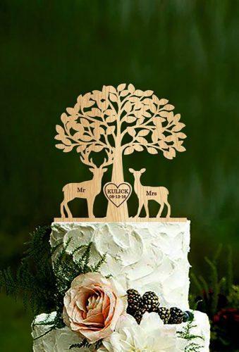 vintage wedding cake toppers beautiful tree HolidayCakeTopper
