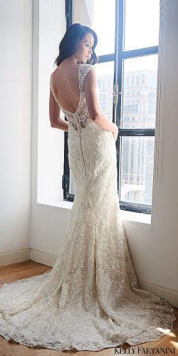 kelly faetanini wedding dresses u shape back short sleeve mermaid kalinda