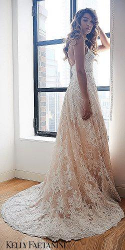 kelly faetanini wedding dresses lace spaghetti bare natural gown 0608 maia