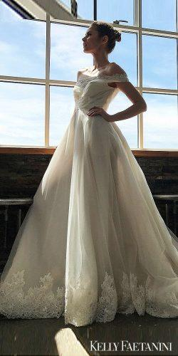 kelly faetanini wedding dresses natural ivory strapless ballgown miranda