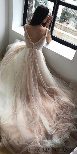 kelly faetanini wedding dresses bare rose cap ballgown tulle dawn