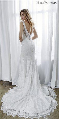 kelly faetanini 2019 wedding dresses lace bridal gown open back dress mermaid kelly faetanini lara