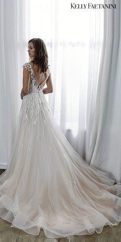 kelly faetanini 2019 wedding dresses a-line bridal gowns blush dresses backless short sleev Audrey