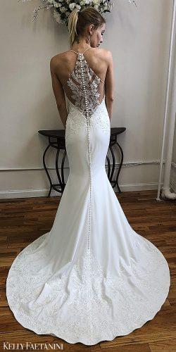 kelly faetanini 2019 wedding dresses mernaid simple skirt lace back Angeline