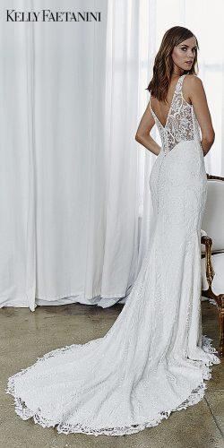 kelly faetanini 2019 wedding dresses mermaid lace wedding dress half open back Kelly Faetanini Adrienne