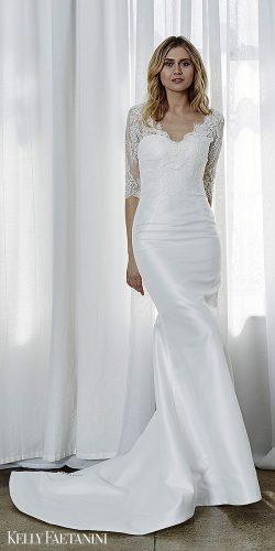 kelly faetanini 2019 wedding dresses long lace sleevs simple bridal gown simone