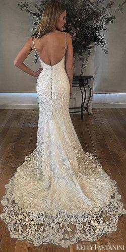 kelly faetanini 2019 wedding dresses mermaid lace wedding dress open back straps giselle
