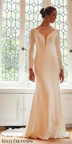 kelly faetanini 2019 wedding dresses simple dress long sleev Jade