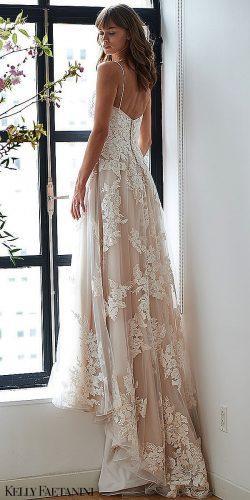 kelly faetanini 2019 wedding dresses ivory lace straps open back a line dress Alexia