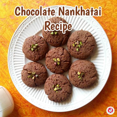 Chocolate Nan khatai/ Nankhatai is a fusion twist of popular short bread cookie in India. These deliciously made eggless cookies are the best holiday treat, which goes excellently well with a hot cup of tea.