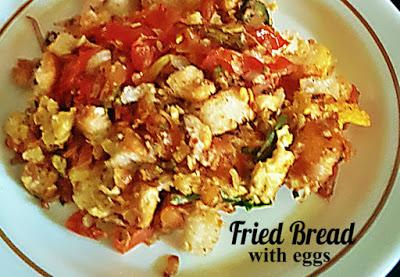 Fried Bread with Eggs Recipe @ treatntrick.blogspot.com