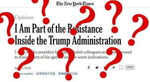 "The New York Times ""Anonymous"" Op-ed"