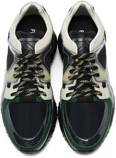 Oversized On Top:  Fendi Multicolor Translucent Vinyl Sneaker