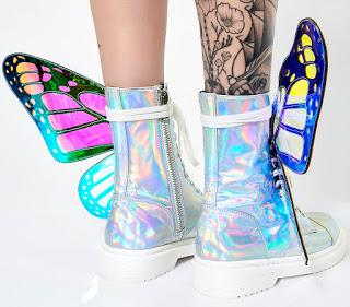 Shoe of the Day | Club Exx Holographic Metamorphic Boots