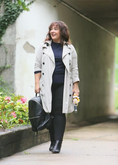 What I Wore: Universal Standard Trench Coat