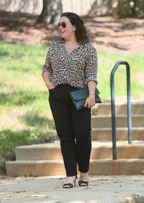 What I Wore: Leopard Print Blouse