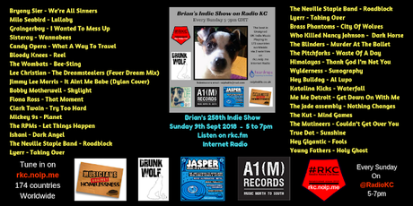 Brian's Indie Show on Radio KC from Sunday 16th September - REPLAY
