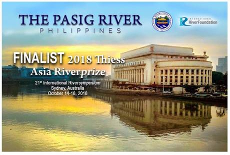 PHILIPPINES' PASIG RIVER VIES FOR ASIA RIVER PRIZE AWARD