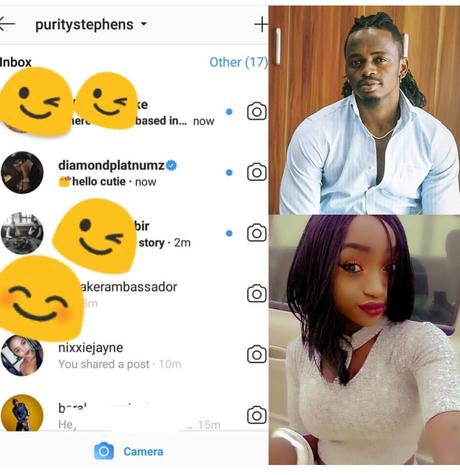 Fed up with him? Kenyan model exposes Diamond Platnumz after sliding in her DM
