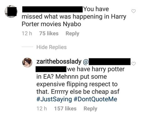 There's a Harry Potter in East Africa! Zari Hassan trolls Hamisa Mobetto after she was accused of witchcraft