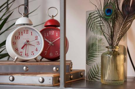 Nextime Single Bell Alarm Desk Retro Clock