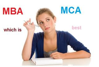 After Graduation MBA or MCA which is best