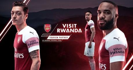 Arsenal players club shirt VisitRwanda. Photo. Arsenal FC