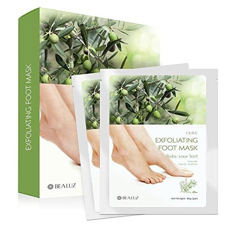 2 Pairs Exfoliating Foot Peel Mask - Peeling Away Calluses and Dead Skin Get Soft Feet by Bea Luz