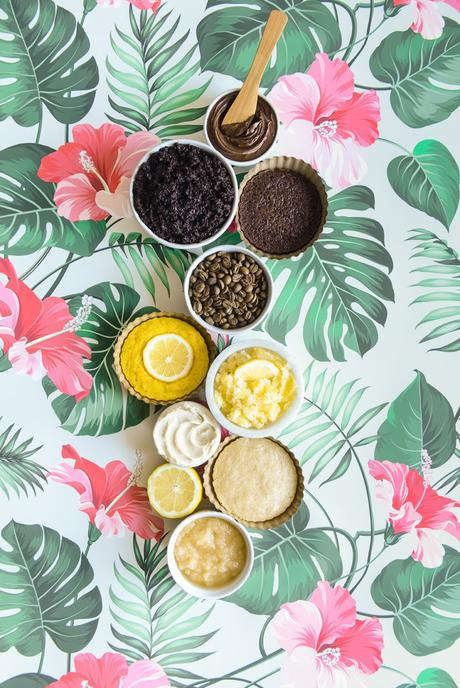 Cake Inspired Homemade Sugar Scrubs // www.WithTheGrains.com
