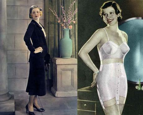 930s-Fashion---Fall-Trends-for-1931-suit-and-girdle