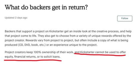 The Biggest Reason Not to Use Kickstarter